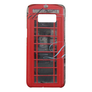 Chic scripts London Landmark Red Telephone Booth Case-Mate Samsung Galaxy S8 Case