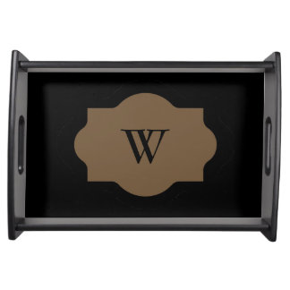 CHIC SERVINIG TRAY_39 BROWN/BLACK SERVING TRAY