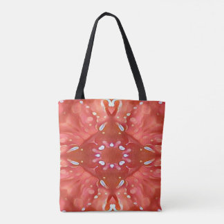 Chic Shades of Pink Peach Artistic Abstract Tote Bag