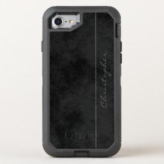 ~ Chic Signature Mottled Black OtterBox Defender iPhone 8/7 Case