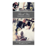 CHIC SILVER GRATITUDE | WEDDING THANK YOU CARD CUSTOMISED PHOTO CARD