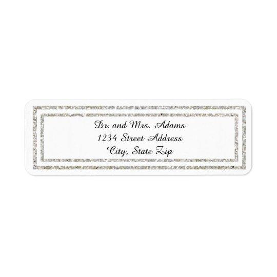 Chic Silver Trim - Address Label