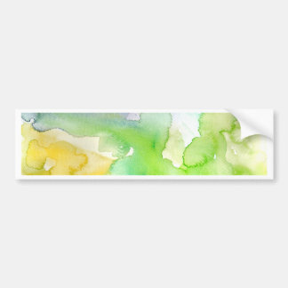 Chic Simple Beautiful Abstract Watercolor Pattern Bumper Sticker