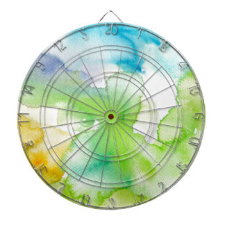 Chic Simple Beautiful Abstract Watercolor Pattern Dartboard
