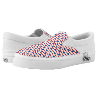 CHIC SLIP ON ZIPZ_PATRIOTIC RED/WHITE/BLUE PRINTED SHOES