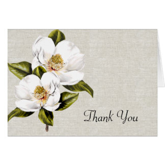 Chic Southern Belle Magnolias Wedding Thank You Card
