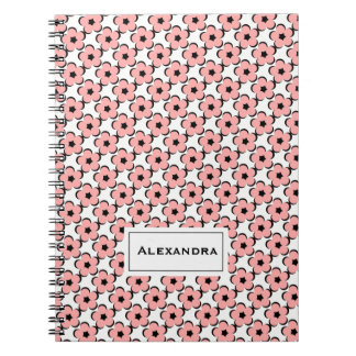 CHIC SPIRAL NOTEBOOK_GIRLY BLUSH PINK FLORAL NOTEBOOK