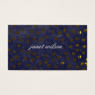 chic spotted texture pattern business card