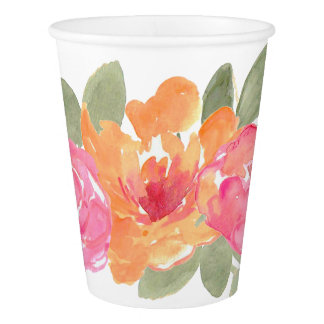 Chic Spring Floral Wedding Flower Paper Cup