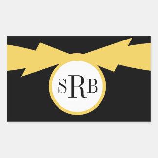 CHIC STICKER_YELLOW/BLACK/WHTIE RECTANGULAR STICKER
