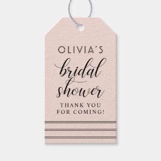 Chic Stripes | Blush Pink Bridal Shower Gift Tags