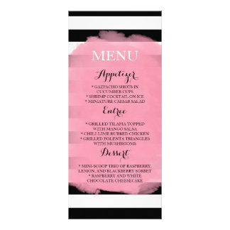 Chic Stripes Menu 10 Cm X 23 Cm Rack Card