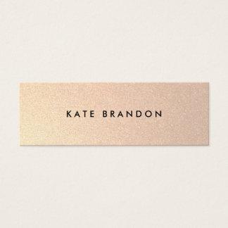 Chic Stylish Faux Brushed Gold Beauty Salon Mini Business Card