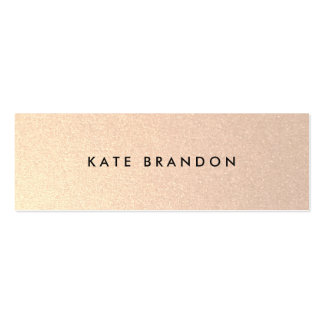 Chic Stylish Faux Brushed Gold Beauty Salon Pack Of Skinny Business Cards