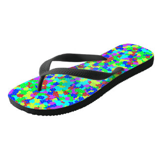 Chic Stylish Multicolor Rainbow Mosaic Pattern Thongs
