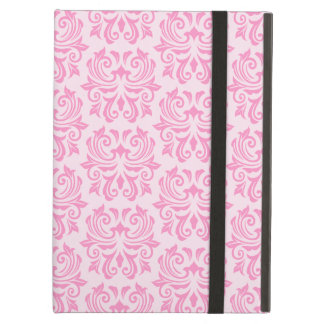 Chic stylish ornate cute pink damask pattern case for iPad air