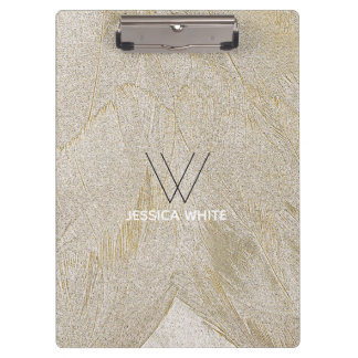 Chic Swan Feathers Clipboard