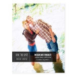 Chic Tag Save The Date Postcard - Black Postcards