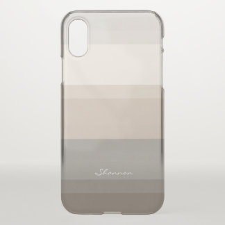 Chic Taupe, Cream and Gray striped iPhone case