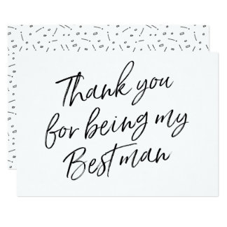 "Chic ""Thank you for being my best man"" 13 Cm X 18 Cm Invitation Card"