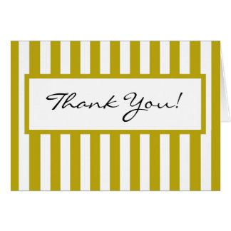 CHIC THANK YOU NOTE_ 191 YELLOW/WHITE NOTE CARD