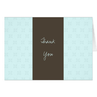 Chic Thank You Note (blue) Note Card