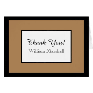 CHIC THANK YOU NOTE_TAN/WHITE/BLACK DIY COLOR CARD