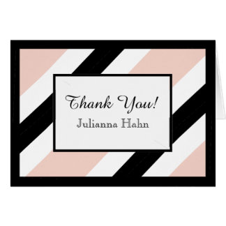CHIC THANK YOU NOTE_WHITE/BLACK/ROSE QUQRTZ NOTE CARD