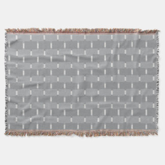 CHIC THROW_MODERN GREY GEOMETRIC THROW BLANKET