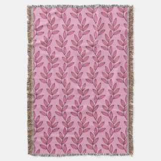 CHIC THROW_PRETTY 27 PINK FLORAL VINES