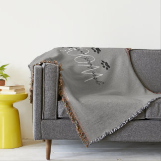"""CHIC THROW_""""YOU HAD ME AT WOOF"""" THROW BLANKET"""