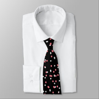 CHIC TIE_MODERN WHITE/CORAL DOTS OF LIGHT TIE