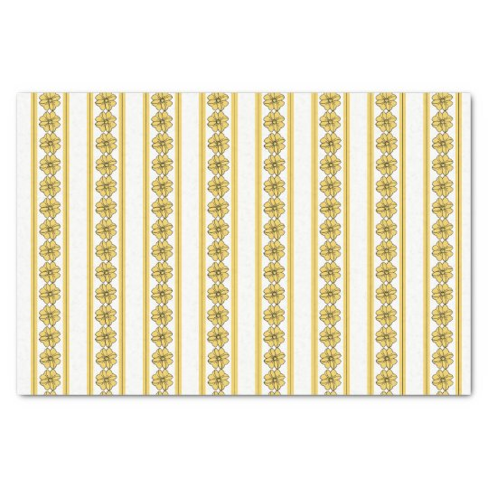 "CHIC TISSUE PAPER_""PRIMROSE YELLOW""BOWS/STRIPES TISSUE PAPER"