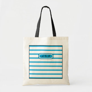 CHIC TOTE_142 TURQUOISE/WHITE STRIPES BUDGET TOTE BAG