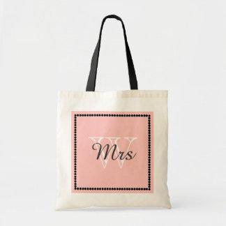 "CHIC /TOTE/BAG_""Mrs"" ON MONOGRAM Budget Tote Bag"