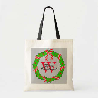 CHIC TOTE_MERRY CHRISTMAS WREATH #1 TOTE BUDGET TOTE BAG