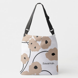 CHIC TOTE_MOD HAZELNUT & BLACK POPPIES CROSSBODY BAG