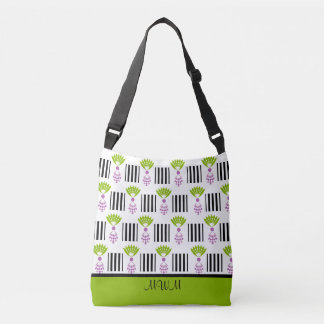 CHIC TOTE_MOD PINEAPPLES AND STRIPES CROSSBODY BAG