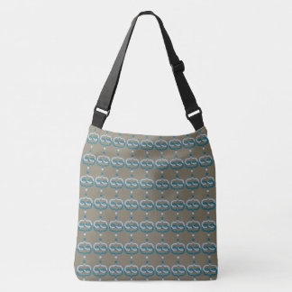 CHIC TOTE_MODERN TWO-TONED BLUE/EARTH DESIGN CROSSBODY BAG