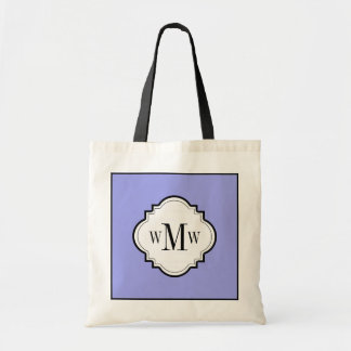CHIC TOTE_PERIWINKLE/WHITE/BLACK TOTE BAG