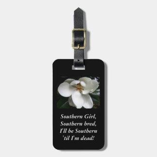 "CHIC TRAVEL/BAG TAG_""Southern Girl...MAGNOLIA Luggage Tag"