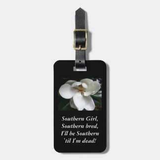 """CHIC TRAVEL/BAG TAG_""""Southern Girl...MAGNOLIA Tags For Luggage"""