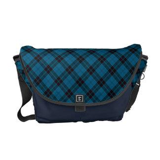 Chic & Trendy Blue Tartan Plaid Patten Courier Bags