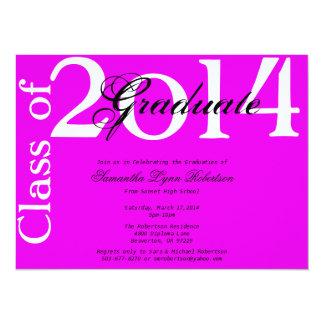 Chic Trendy Bright Purple Graduation Announcement