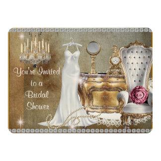 CHIC & TRENDY VINTAGE  BRIDAL SHOWER INVITATION