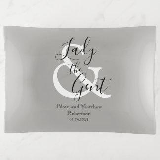"CHIC TRINKET TRAY_""Lady & the Gent"" Trinket Trays"