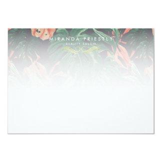 Chic Tropical Flower Makeup Beauty Salon Notecard