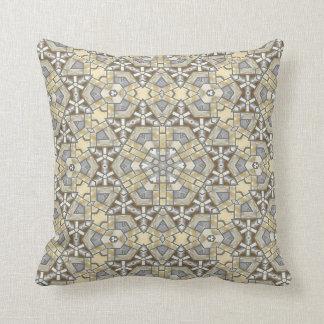Chic Turkish Bohemian Mosaic Kaleidoscope Pattern Throw Pillow