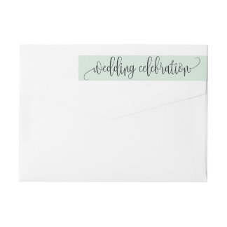 Chic Typography in Mint Green | Label