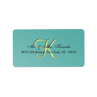 Chic Unique 3d Teal Address Label